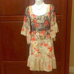 Betsey Johnson flower midi dress